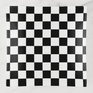 Vide-poche Conception Checkered noire et blanche de motif