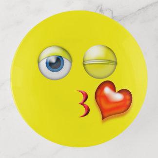 Vide-poche Coup de coeur d'amour un baiser Emoji