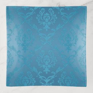 Vide-poche Damassé fascinante moderne vintage de turquoise