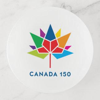Vide-poche Logo de fonctionnaire du Canada 150 - multicolore