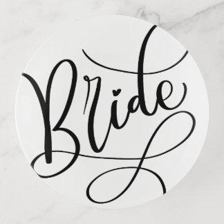 Vide-poche Mariage en lettres de jeune mariée de manuscrit de