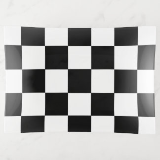 Vide-poche Motif Checkered noir et blanc de damier
