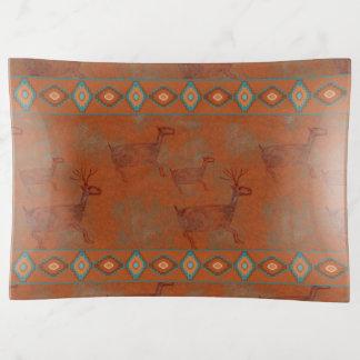 Vide-poche Pétroglyphe de cerfs communs de sud-ouest