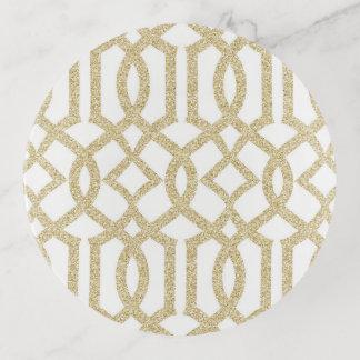 Vide-poche Treillis de parties scintillantes d'or