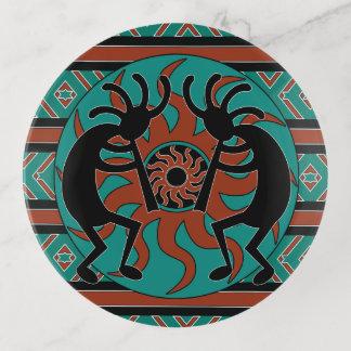 Vide-poche Tribal du sud-ouest Sun de turquoise de Kokopelli