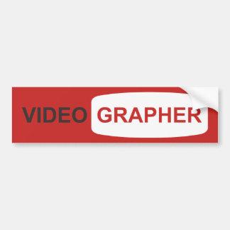 Videographer ou Youtuber Autocollant De Voiture