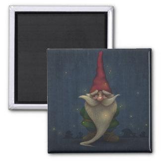 Vieil aimant de carré de gnome de Noël