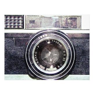 Vieil appareil-photo noir prospectus