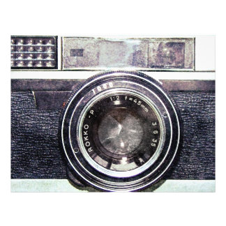 Vieil appareil-photo noir prospectus 21,6 cm x 24,94 cm