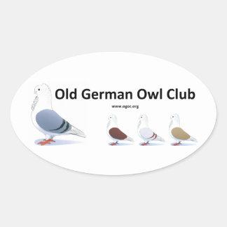 Vieil autocollant allemand de club de hibou
