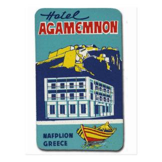 Vieil hôtel Agamemnon de Nafplio Grèce d'annonce Carte Postale