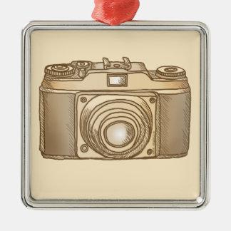 Vieil ornement de carré de prime d'appareil-photo