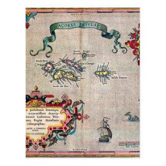 Vieille carte des Açores - exploration vintage de