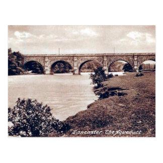 Vieille carte postale - aqueduc, Lancaster