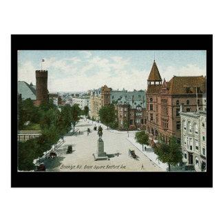 Vieille carte postale - carré de Grant, Brooklyn
