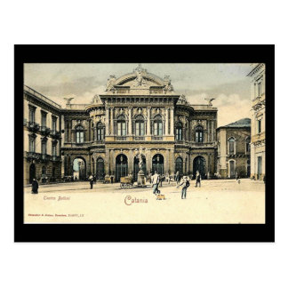 Vieille carte postale, Catane, Sicile