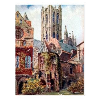 Vieille carte postale - cathédrale de Cantorbéry