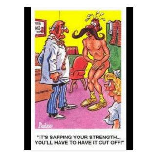 Vieille carte postale comique -