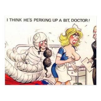 Vieille carte postale - comique, médical