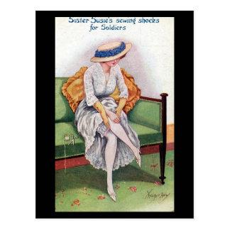 Vieille carte postale comique - soeur Susie