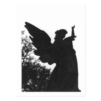 Vieille carte postale de cimetière de statue