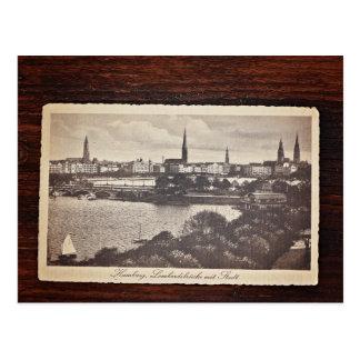 Vieille carte postale de Hambourg, Allemagne