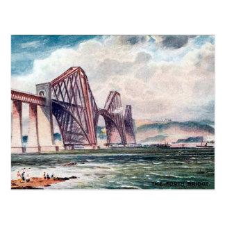 Vieille carte postale - jetez un pont sur en