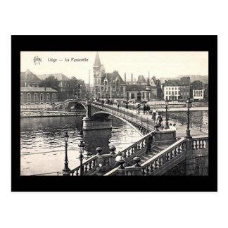 Vieille carte postale - Liège, La Passerelle