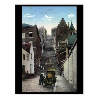 Vieille carte postale - Liège, Montaigne de Bueren