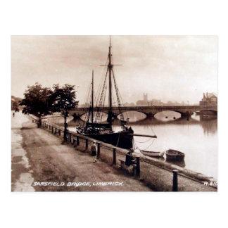 Vieille carte postale - Limerick, Irlande