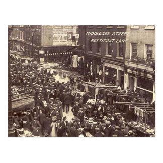 Vieille carte postale - Londres, ruelle de jupon