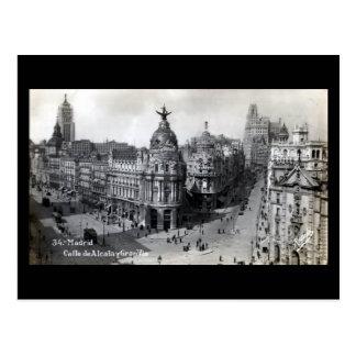 Vieille carte postale - Madrid