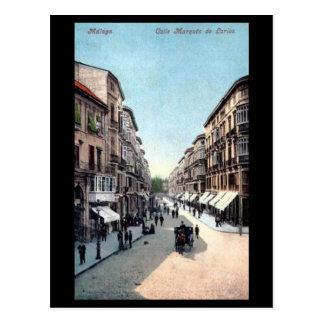 Vieille carte postale - Malaga, Espagne