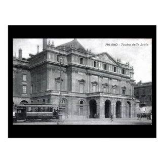 Vieille carte postale - Milan, théatre de l'opéra