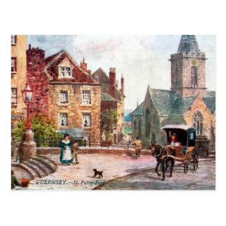 Vieille carte postale - port de St Peter,