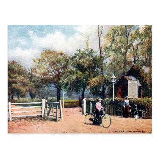 Vieille carte postale - porte de péage, Dulwich,