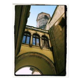 Vieille carte postale quarte de Barcelone