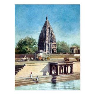 Vieille carte postale - Ramnagar, Varanasi, Inde