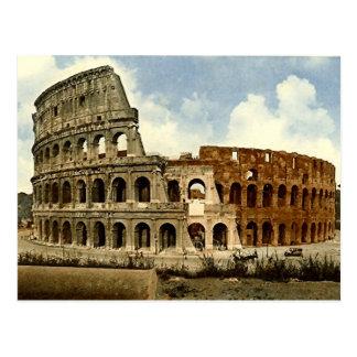 Vieille carte postale, Rome, le Colosseum