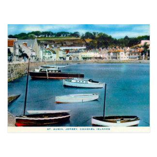 Vieille carte postale - St Aubin, Jersey, Îles