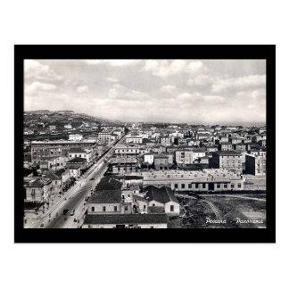 Vieille carte postale - une vue de Pescara