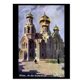Vieille carte postale - Vilnius, Lithuanie