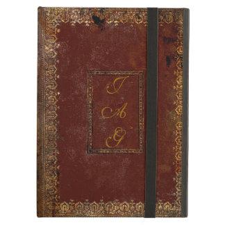 Vieille couverture de livre victorienne en cuir de protection iPad air