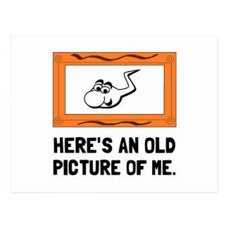 Vieille image de moi carte postale