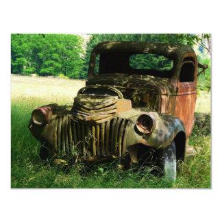 Vieille invitation vintage antique de camion