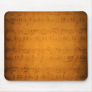 Vieille musique de feuille vintage tapis de souris