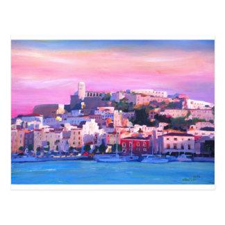 Vieille perle de ville et de port d'Ibiza Eivissa Carte Postale