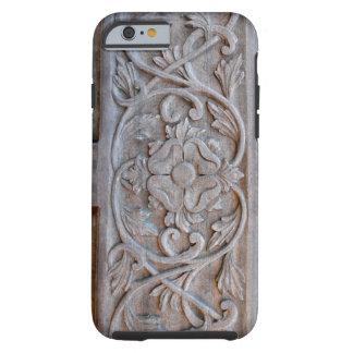 Vieille porte en bois découpée Scrollwork Coque iPhone 6 Tough