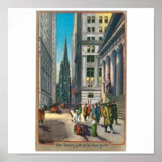 Vieille trinité et Wall Street, New York
