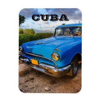 Vieille voiture classique américaine au Trinidad, Magnets En Rectangle